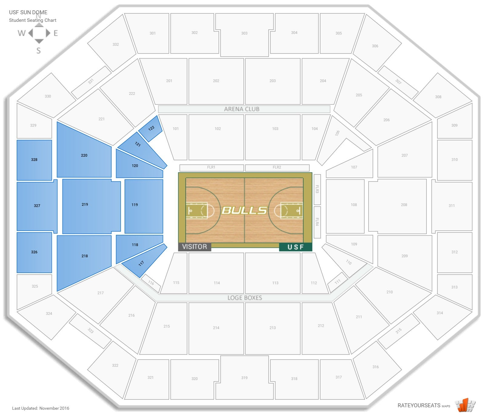 Seating charts yuengling center